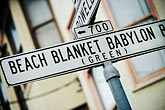 street signs stock photography | California, San Francisco, Beach Blanket Babylon Street (aka Green Street), image id 3-1012-17