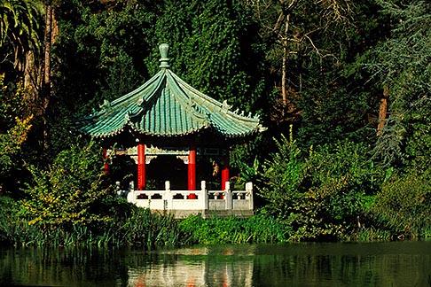 image 3-1012-58 California, San Francisco, Golden Gate Park, Stow Lake, Chinese pavilion