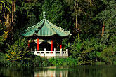 lakeside stock photography | California, San Francisco, Golden Gate Park, Stow Lake, Chinese pavilion, image id 3-1012-58
