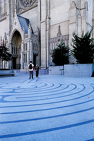 image 3-1013-28 California, San Francisco, Grace Cathedral, Labyrinth
