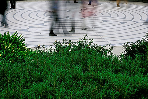 image 3-1013-41 California, San Francisco, Grace Cathedral, Labyrinth