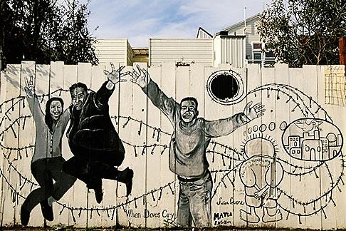 image 3-1014-55 California, San Francisco, Balmy Alley, When Doves Cry, copyright 2001, Precita Eyes muralists