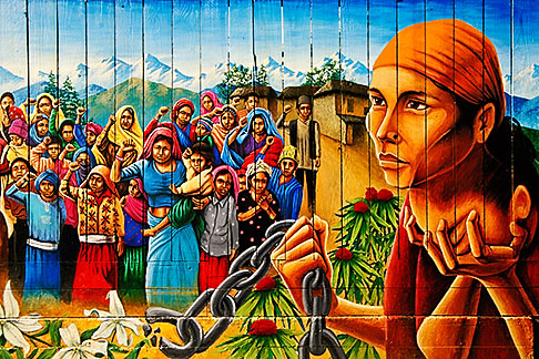 image 3-1014-88 California, San Francisco, Balmy Alley, Mural, Naya Bihana , New Dawn copyright Martin Travers