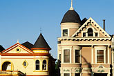 old houses stock photography | California, San Francisco, Victorians on Steiner Street, image id 3-192-26