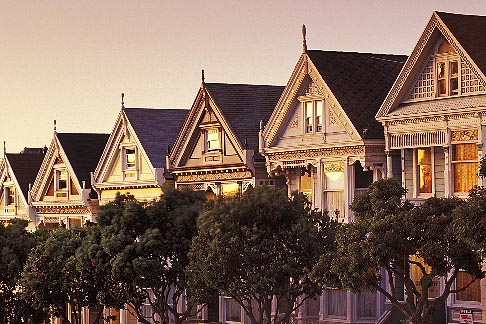image 3-194-26 California, San Francisco, Victorian houses, Steiner Street