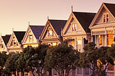 yellow stock photography | California, San Francisco, Victorian houses, Steiner Street, image id 3-194-26