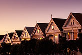 san francisco bay stock photography | California, San Francisco, Victorian houses, Steiner Street, image id 3-194-32
