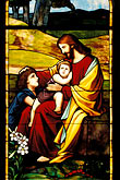 infant jesus stock photography | California, San Francisco, Stained Glass, St. Matthew