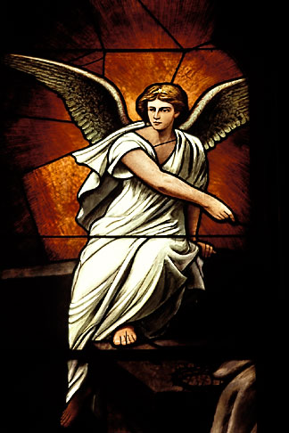 image 4-230-9 Religious Art, Angel, Stained Glass