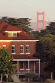 old house stock photography | California, San Francisco, Early morning light on Presidio, GGNRA, image id 4-508-1