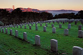 graveyard stock photography | California, San Francisco, Military Cemetery, Presidio, GGNRA, image id 4-524-4