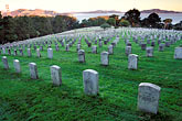 grave stock photography | California, San Francisco, Military Cemetery, Presidio, GGNRA, image id 4-524-9