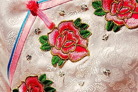image 5-620-3060 California, San Francisco, Chinese decorated fabric