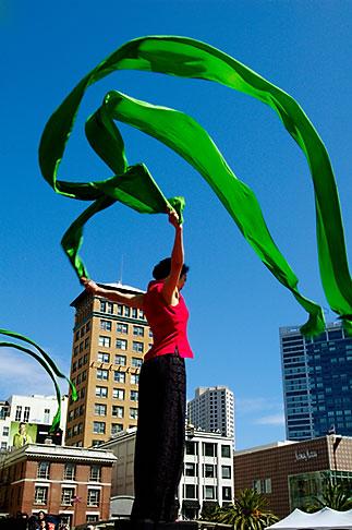 image 5-620-9878 California, San Francisco, Chinese Dancer