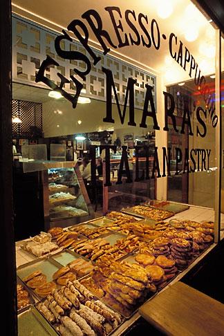 image 6-350-16 California, San Francisco, Italian bakery, North Beach