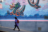 on foot stock photography | California, San Francisco, Dragon mural, Chinatown, image id 8-223-41