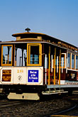 vertical stock photography | California, San Francisco, Hyde Street Cable Car, image id 8-478-66