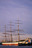 three masted stock photography | California, San Francisco, San Francisco Maritime National Historical Park, clipper ship Balclutha, image id 9-12-10