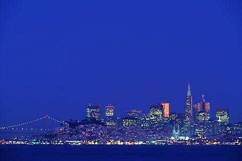 image 9-168-47 California, San Francisco, Downtown skyline at night