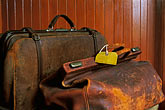worn stock photography | Scotland, Aberdeenshire, Old Luggage, image id 1-530-55