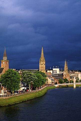 image 1-560-11 Scotland, Inverness, City skyline