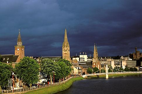 image 1-560-12 Scotland, Inverness, City skyline