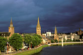 inclement weather stock photography | Scotland, Inverness, City skyline, image id 1-560-12