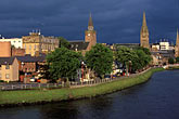 inclement weather stock photography | Scotland, Inverness, City skyline, image id 1-560-17