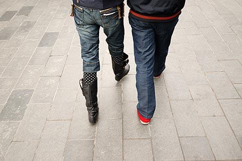 image 7-620-3217 China, Couple walking, legs