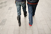 on foot stock photography | China, Couple walking, legs, image id 7-620-3217