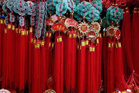 image 7-620-3510 China, Red tassles at souvenir stand