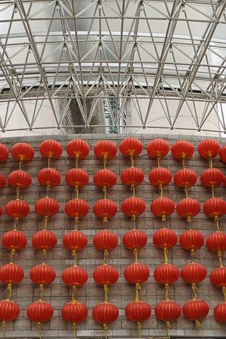 image 7-620-3583 China, Shanghai, Red Chinese lanterns