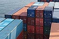 maritime stock photography | Shipping, Containers stacked in cargo hold, image id 7-675-3823