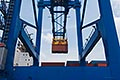 container ship stock photography | Shipping, Container crane at port, image id 7-678-5849