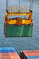 container being lifted by crane stock photography | Shipping, Container being lifted by crane, image id 7-678-5915