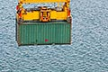 nautical stock photography | Shipping, Container being lifted by crane, image id 7-678-5923