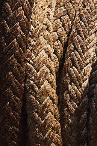 image 7-678-5996 Shipping, Coiled ropes, close up