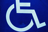 single stock photography | Sign, Handicapped access sign, image id 1-53-17