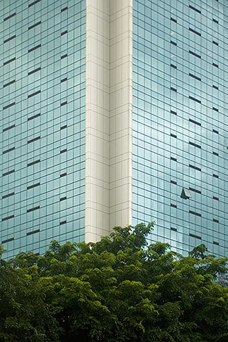 image 7-680-4310 Singapore, Office building, reflections in glass windows