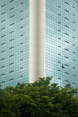 glass stock photography | Singapore, Office building, reflections in glass windows, image id 7-680-4310