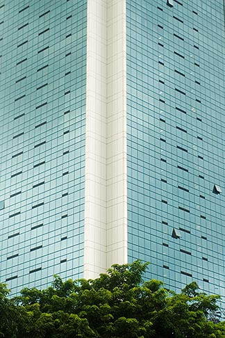 image 7-680-4314 Singapore, Office building, reflections in glass windows