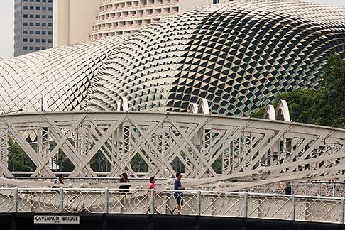 image 7-680-4517 Singapore, Esplanade Theatres on the Bay Arts Centre and Cavenagh Bridge