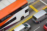traffic stock photography | Singapore, Street traffic, bus and cars, elevated view, image id 7-680-6221