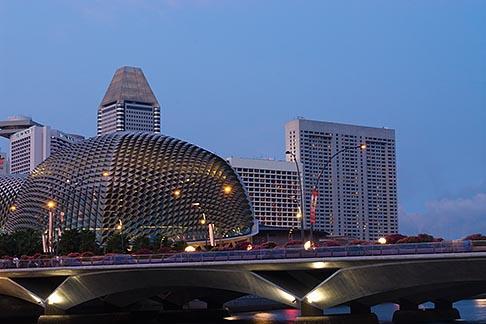 image 7-680-9707 Singapore, Downtown skyline at night
