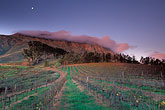 dawn stock photography | South Africa, Stellenbosch, Moonrise over Simonsberg, Delheim winery, image id 1-421-73