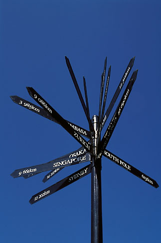 image 5-448-5 South Africa, Cape Town, Victoria and Alfred waterfront, signpost