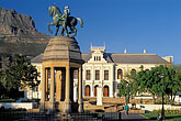 statue stock photography | South Africa, Cape Town, South African Museum, with Table Mountain, image id 5-476-19