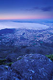 blue stock photography | South Africa, Cape Town, Table bay from Table Mountain at dusk, image id 5-483-44