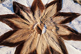 horizontal stock photography | African Art, Rug made from springbok hides, image id 5-502-31