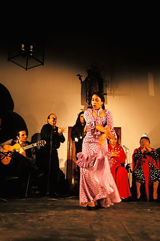 image 1-200-45 Spain, Jerez, Zambra del Sacromonte, flamenco group